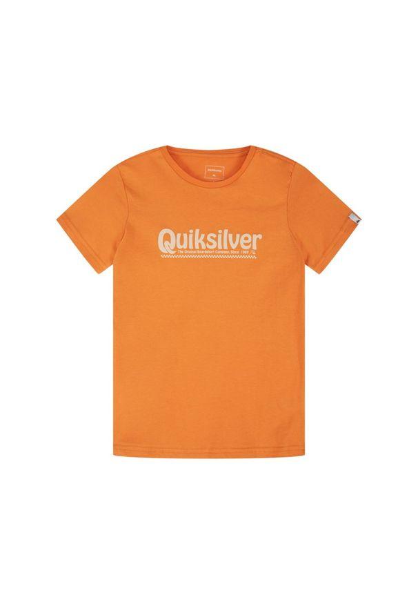 Pomarańczowy t-shirt Quiksilver