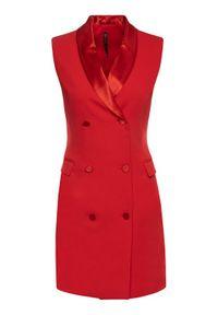 Czerwona sukienka koktajlowa Manila Grace wizytowa