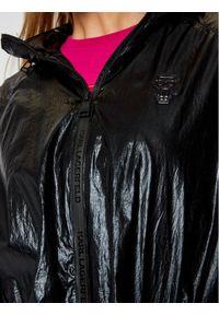 Czarna parka Karl Lagerfeld z dekoltem karo