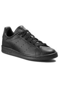 Czarne buty sportowe Adidas z cholewką, na lato, Adidas Stan Smith