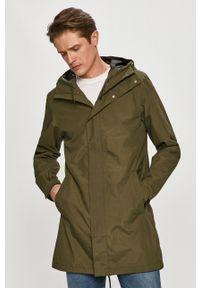 Oliwkowa kurtka 4f gładkie, casualowa, na co dzień, z kapturem