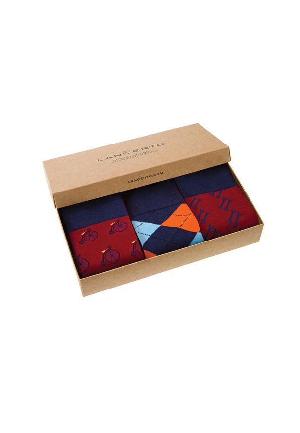 Wielokolorowe skarpetki Lancerto w kolorowe wzory