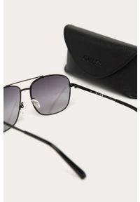 Czarne okulary przeciwsłoneczne Guess Jeans prostokątne