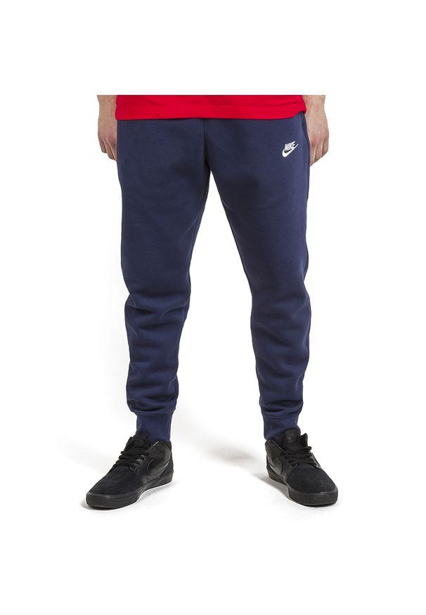 Niebieskie spodnie Nike z aplikacjami, sportowe
