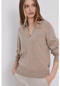 Samsoe & Samsoe - Samsoe Samsoe - Sweter. Okazja: na co dzień. Kolor: beżowy. Długość rękawa: długi rękaw. Długość: długie. Styl: casual #3
