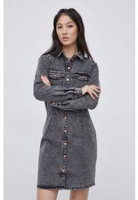 Noisy may - Noisy May - Sukienka jeansowa. Okazja: na co dzień. Kolor: szary. Materiał: jeans. Typ sukienki: proste. Styl: casual