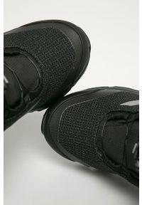 Czarne buty zimowe adidas Performance z cholewką, na zimę