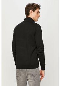 Premium by Jack&Jones - Bluza bawełniana. Okazja: na co dzień. Kolor: czarny. Materiał: bawełna. Długość: krótkie. Wzór: gładki. Styl: casual