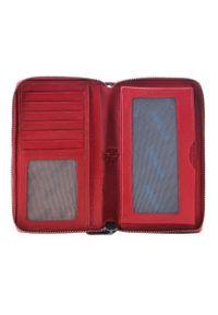 Wittchen - Damski portfel skórzany na pasku. Kolor: czerwony. Materiał: skóra. Wzór: aplikacja