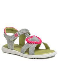 Srebrne sandały Agatha Ruiz de la Prada casualowe, z aplikacjami, na co dzień