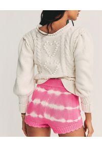 LOVE SHACK FANCY - Różowe spodenki tie dye Karrisa. Stan: podwyższony. Kolor: biały