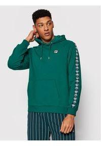 Fila Bluza Hudd Raglan 688558 Zielony Regular Fit. Kolor: zielony. Długość rękawa: raglanowy rękaw
