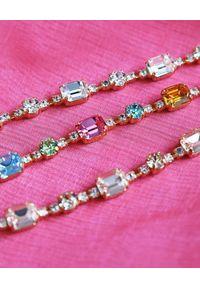 CAROLINE SVEDBOM - Złota bransoletka z kryształami Corinna. Materiał: złote. Kolor: złoty. Wzór: aplikacja. Kamień szlachetny: kryształ