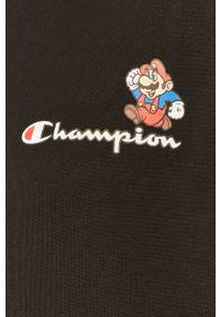 Czarna bluzka Champion na co dzień, casualowa, z nadrukiem