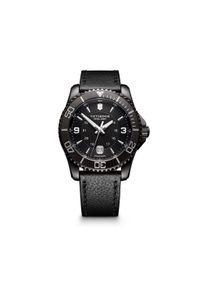 Czarny zegarek VICTORINOX elegancki