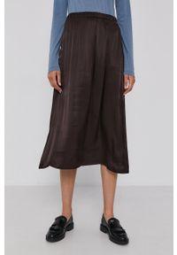 Drykorn - Spódnica Ribly. Kolor: brązowy. Materiał: tkanina. Wzór: gładki