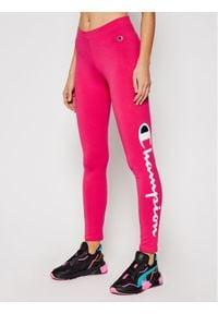 Champion Legginsy Large Script Logo 112857 Różowy Athletic Fit. Kolor: różowy #1