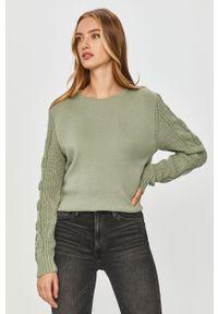 Miętowy sweter Answear Lab z długim rękawem, wakacyjny