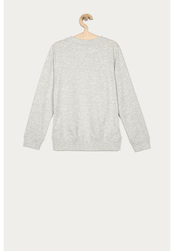 Szara bluza LMTD casualowa, bez kaptura, na co dzień, z nadrukiem