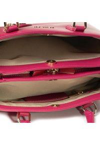 Różowa torebka klasyczna Trussardi Jeans klasyczna