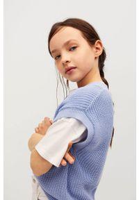 Niebieski sweter Mango Kids casualowy, na co dzień, gładki #6