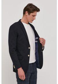 GANT - Gant - Marynarka. Kolor: niebieski. Materiał: tkanina. Styl: klasyczny