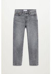 Szare jeansy mango