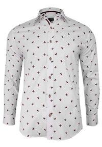 Elegancka koszula Grzegorz Moda Męska na spotkanie biznesowe, z długim rękawem, długa