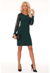 Zielona sukienka wizytowa Merribel wizytowa