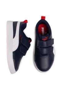 Puma - Sneakersy PUMA - Courtflex v2 V PS 37154301 Cobalt Blue. Zapięcie: rzepy. Kolor: niebieski. Materiał: skóra ekologiczna, materiał. Szerokość cholewki: normalna