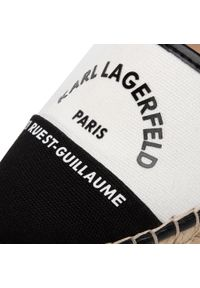 Białe półbuty Karl Lagerfeld z cholewką, na co dzień, casualowe