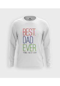MegaKoszulki - Koszulka męska z dł. rękawem Best dad ever. Materiał: bawełna