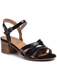 Czarne sandały Nessi casualowe, na co dzień