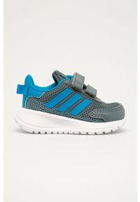 Szare buty sportowe Adidas z cholewką, do biegania