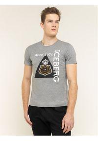 Iceberg T-Shirt 20EI1P0F0176301 Szary Regular Fit. Kolor: szary