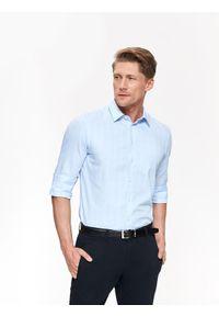 Niebieska koszula TOP SECRET w kratkę, klasyczna
