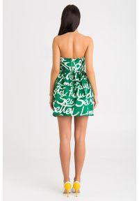 Sukienka Elisabetta Franchi bez ramiączek, mini, rozkloszowana