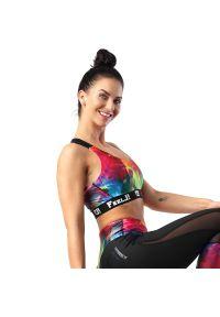 FJ! - Stanik sportowy MIRACLE. Materiał: żakard, dzianina, elastan, guma, poliester. Sport: fitness, bieganie