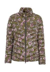 Cellbes Lekka kurtka we wzory khaki wzór paisley female zielony 38/40. Kolor: zielony. Materiał: puch, guma, polar. Wzór: paisley