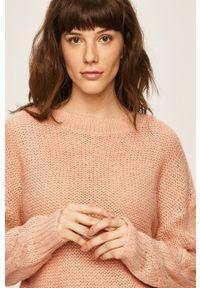 Różowy sweter Vila casualowy, z okrągłym kołnierzem #5