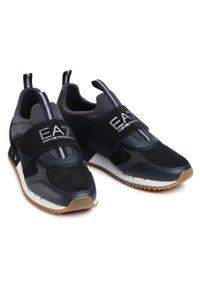 Czarne półbuty EA7 Emporio Armani z cholewką, casualowe, na co dzień