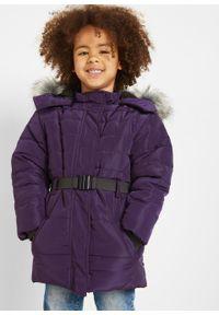 Fioletowy płaszcz bonprix na zimę #5