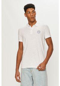 Biała koszulka polo Jack & Jones polo, gładkie, na co dzień, krótka