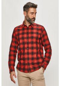 Czerwona koszula Hugo klasyczna, z długim rękawem, na co dzień