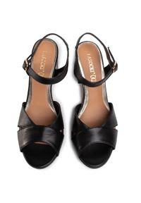 Czarne sandały Lasocki na średnim obcasie, na obcasie, casualowe, na co dzień