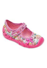 Tenisówki dziecięce Befado 109P191 Różowe. Zapięcie: rzepy. Kolor: różowy. Materiał: tkanina, tworzywo sztuczne, materiał