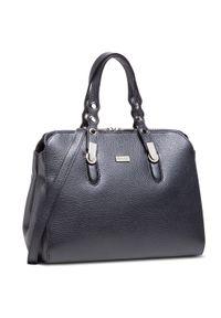 Czarna torebka klasyczna klasyczna, skórzana