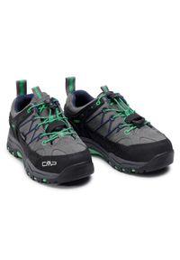 Trekkingi CMP - Kids Rigel Low Trekking Shoes Wp 3Q13244 Graffite/Verde Fluo 29UF. Kolor: szary. Materiał: zamsz, materiał, skóra. Szerokość cholewki: normalna