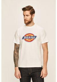 Biały t-shirt Dickies z okrągłym kołnierzem, casualowy