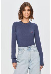 Niebieski sweter Levi's® z długim rękawem, na spotkanie biznesowe